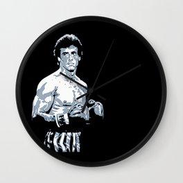 Sylvester Stallone as Rocky Balboa, portrait pop Wall Clock