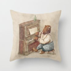 The Pianist Throw Pillow