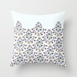 Radiating Flower Collage Throw Pillow