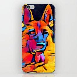 German Shepherd Watercolor iPhone Skin