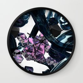 Gel and Stones Wall Clock