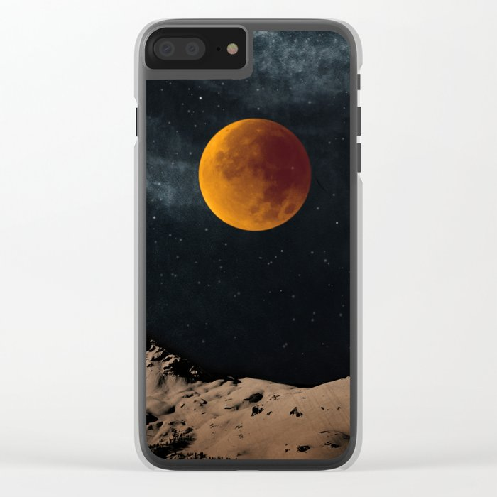 Bloodmoon Fantasy Clear iPhone Case