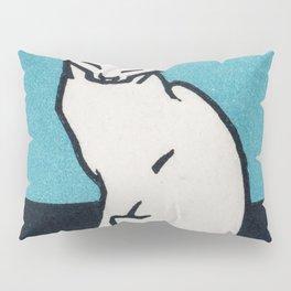 Sitting cat (1917) by Julie de Graag (1877-1924) Pillow Sham