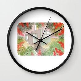 Tropic house Wall Clock