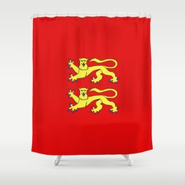 flag of normandie Shower Curtain