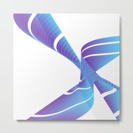 chinese fingertrap pinwheel Metal Print