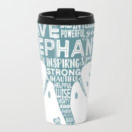 Save Elephants - Word Cloud Silhouette Travel Mug