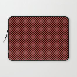 Aurora Red and Black Polka Dots Laptop Sleeve