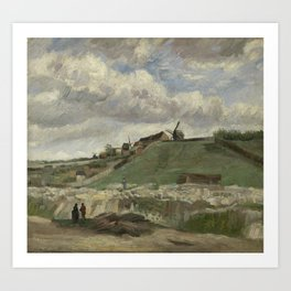 The Hill of Montmartre with Stone Quarry Art Print