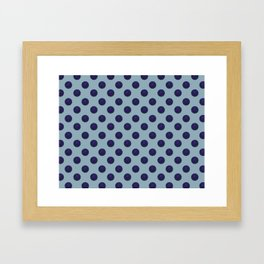 Circle World Deep Space Blue Framed Art Print
