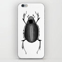 Egyptian Scarab Beetle Gray Black iPhone Skin
