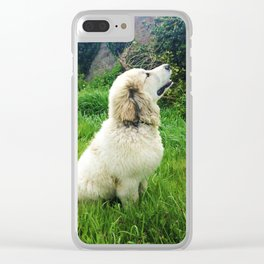 Dream Big - Great Pyrenees Puppy Clear iPhone Case