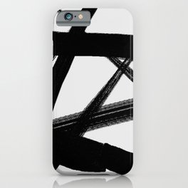 A Shadow Beam - Abstract Paint iPhone Case