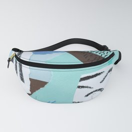 pastels paper collage Fanny Pack