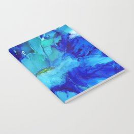 Blue Exotic Flower Notebook