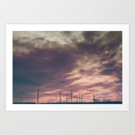 Sunset Over the Warehouses - Los Angeles #41 Art Print
