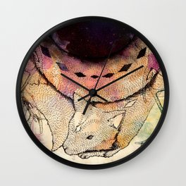 Black Hole in the Woods Wall Clock