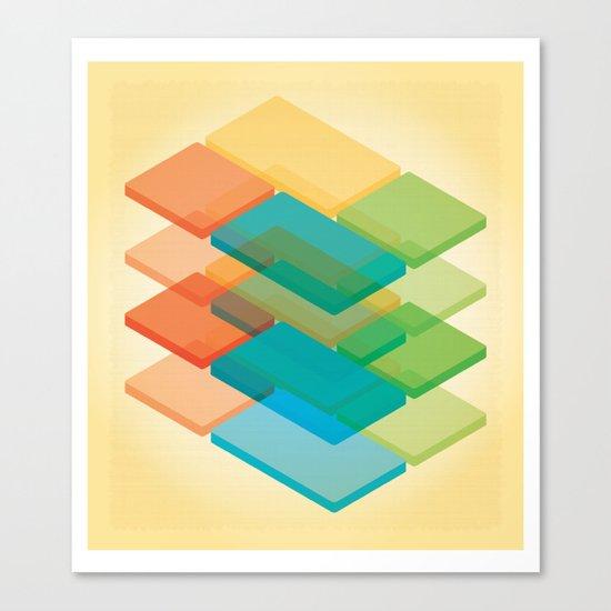 Color Cubes 2 Canvas Print