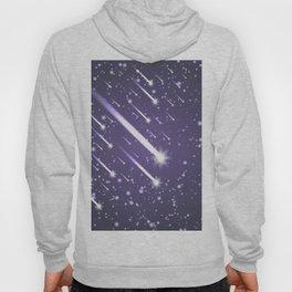 Flying meteors. Ultra violet. Hoody