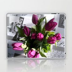 Purple Tulips Laptop & iPad Skin