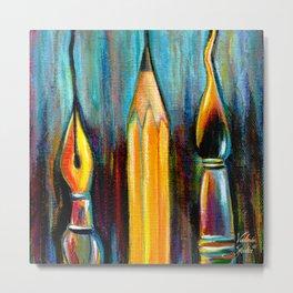 Pen, Pencil, Brush Metal Print