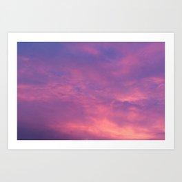 Peach & Violet Blaze Art Print