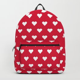 Vintage Ruby Red Heart Pattern Backpack