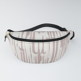 Simply Bamboo Brushstroke Lunar Gray on Clay Pink Fanny Pack