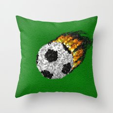 Great Ball Of Fire - Mosaic Style Throw Pillow