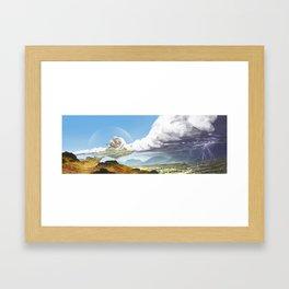 Floating Island Framed Art Print
