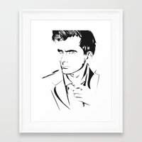 david tennant Framed Art Prints featuring David Tennant by Christine Ring