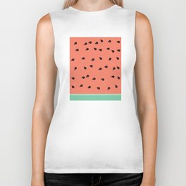 SCATTERED WATERMELON Biker Tank