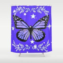 Purple Butterfly Shower Curtain