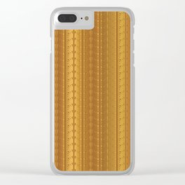 Gold Copper Vertical Stripes Vector Pattern Hand Drawn Background Clear iPhone Case