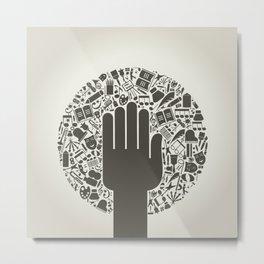 Arts a hand Metal Print