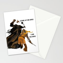 Come at Me Bro Stationery Cards