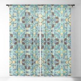Just Beachy Seamless Pattern Sheer Curtain
