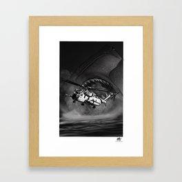 CH-53 vs Hammerhead Framed Art Print