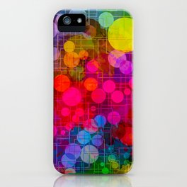 Rainbow Bubbles Abstract Design iPhone Case