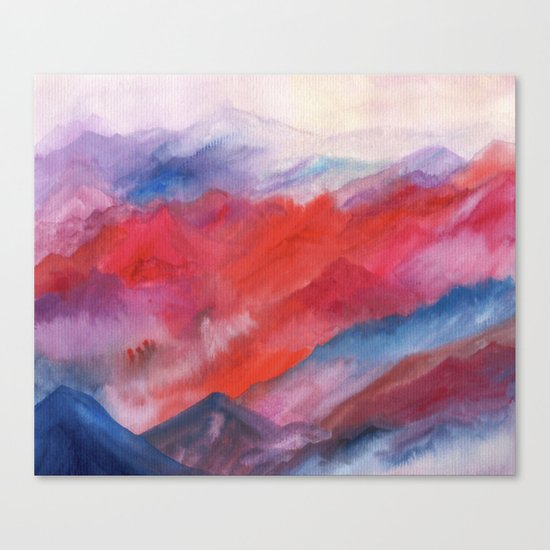 Watercolor abstract landscape 23 Canvas Print