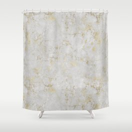 Raw Marble Gold Mine Shower Curtain