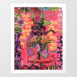"""Furious Dancing"" Original Journal Art by Peri Allen Art Print"