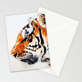 Watercolor Tiger (Color) Stationery Cards