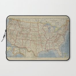 Old and Vintage Map of every States of The United States Of America Laptop Sleeve