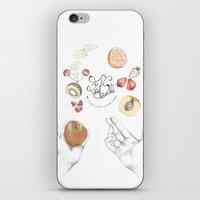 cooking iPhone & iPod Skins featuring Happy Cooking by Ana Mendes