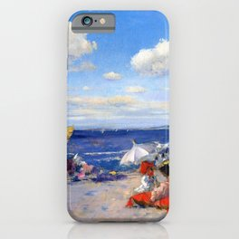 William Merritt Chase - At The Seaside - Digital Remastered Edition iPhone Case