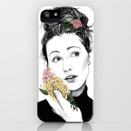 Delicate rose - floral portrait 1 of 3 iPhone Case