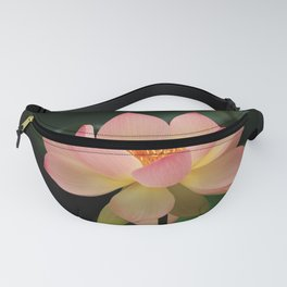 Peaceful Zen Garden Pink Lotus Floral Fanny Pack