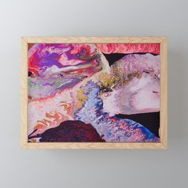 Psychedelic Galaxy  Framed Mini Art Print