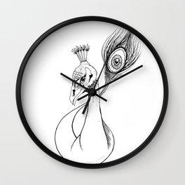 Peacock Ink Wall Clock